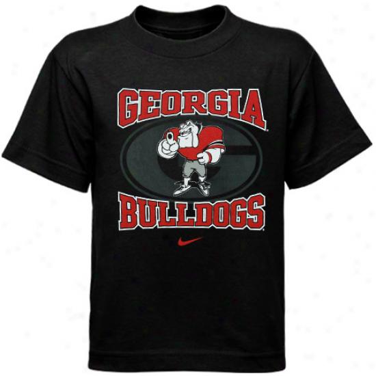 Uga Tshirt : Nike Uga Preschool Black Mascot Tshirt