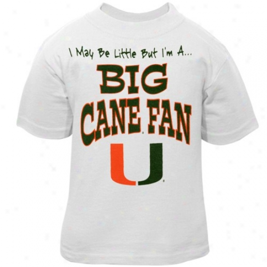 Um Hurricanes T-shirt : Um Hurricanes Toddler White Big Fan T-shirt
