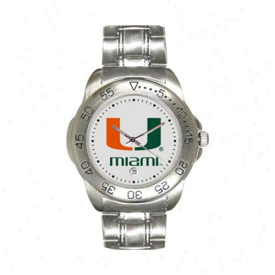 Um Hurricanes Wrist Watch : Um Hurricanes Sport Wrist Watch W/stainless Steel Band