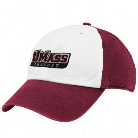 Umass Minutemen Merchandise: Twins '47 Massachusetts Minutemen Maroob-white Freshman Franchise Fitted Hat