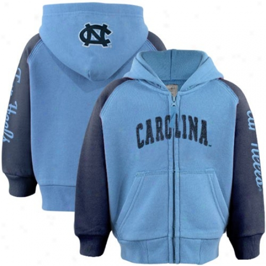 Unc Sweatshirts : Unc (unc) Toddler Carolina Blue-navy Blue Solo Full Zipp Sweatshirts