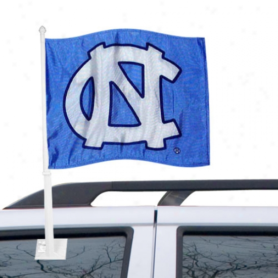 """unc Tar Heels Flags : Northerly Carolina Tarheels Sky Blue """"nc"""" Car Flagss"""