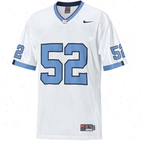 Unc Tarhel Jerseys : Nike Unc Tarheel (unc) #52 Tackl eTwill Replica Football Jerseys - White