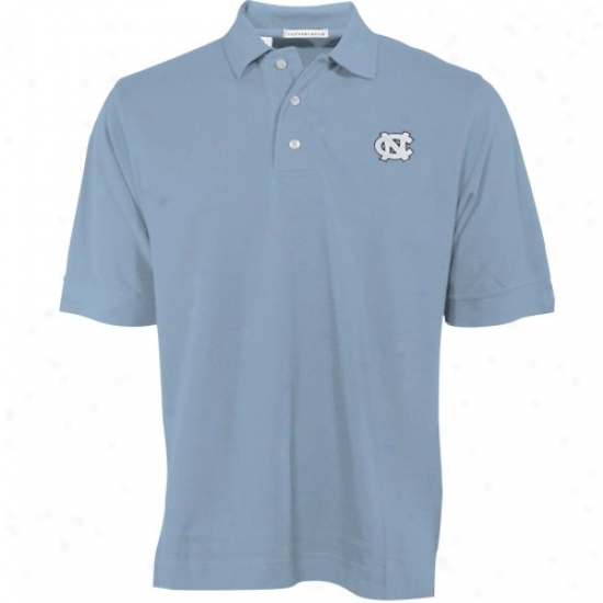 Unc Tarheels Golf Shirt : Cutter & Buck Unc Tafheels (unc) Carolina Blue Tournament Golf Shirt