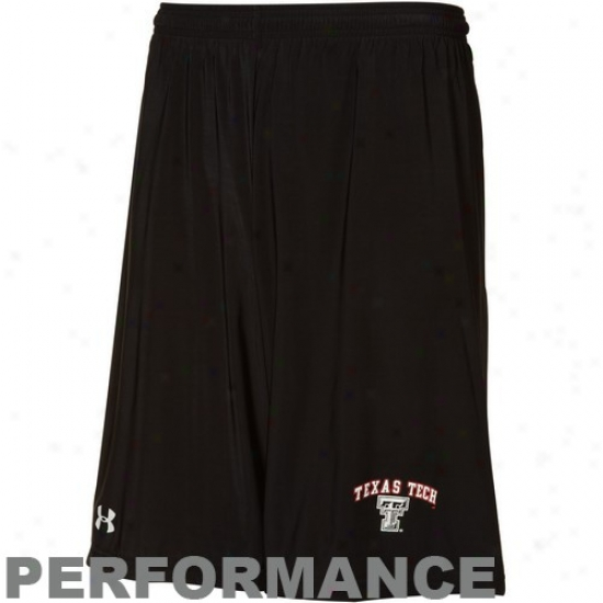 Under Armour Texas Tech Red Raiders Black Heatgear Micro Short