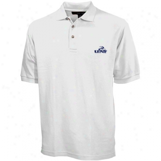 Unf Ospreys Polo : University Of North Florida Ospreys White Pique Polo