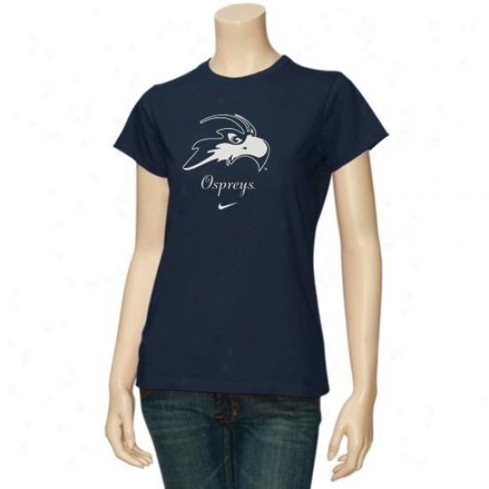 Unf Ospreys T-shirt : Nike University Of North Florida Ospreys Ladies Navy Blue Wordmark Logo Crww T-shirt
