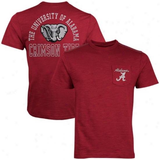University Of Alabama Attire: Seminary of learning Of Alabama Crimson Anchor T-shirt