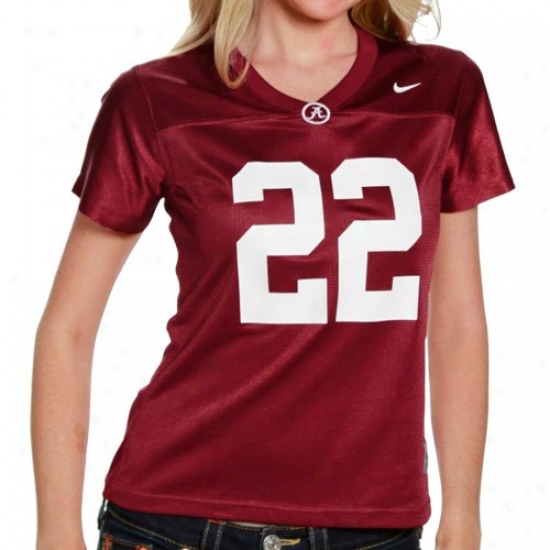 University Of AlabamaJ erseys : Nioe University Of Alabama Women's #22 Replica Football Jerseys - Crimson