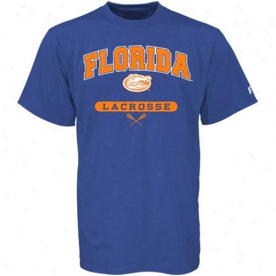 University Of Florida Attire: Russell University Of Florkda Kingly Blje Lqcrosse T-shirt