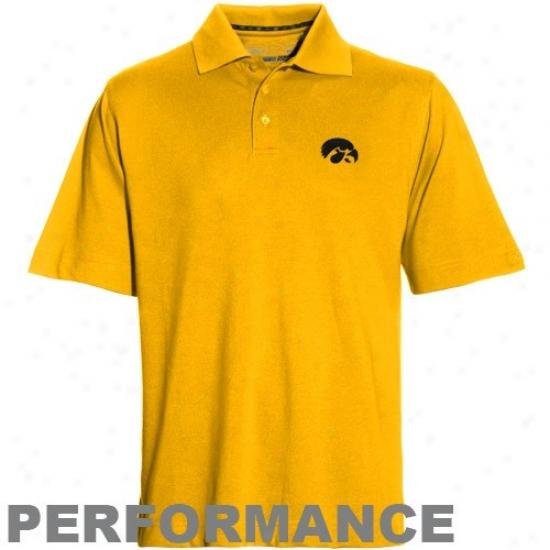 University Of Iowa Golf Shirts : Cutter & Buck University Of Iowa Gold Dryte Performance Golf Shirts
