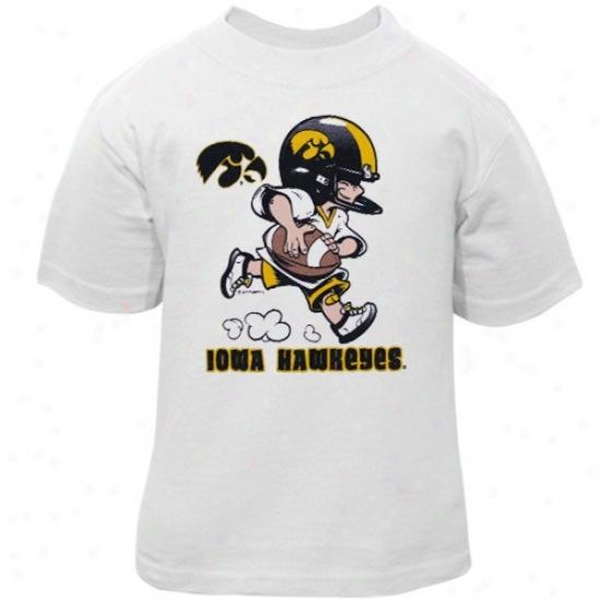 University Of Iowa Tshirts : University Of Iowa Toddler White Little Player Tshirts