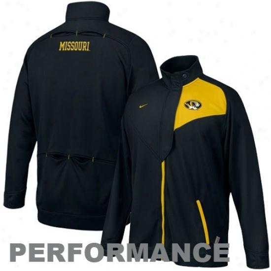 University Of Missouri Jackets : Nike University Of Missouri Black Training Warm-up Performance Jackets