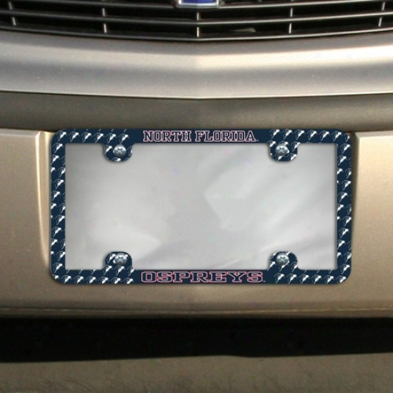 University Of North Florida Ospreys Thin Rim Mini-logo License Plate Frame