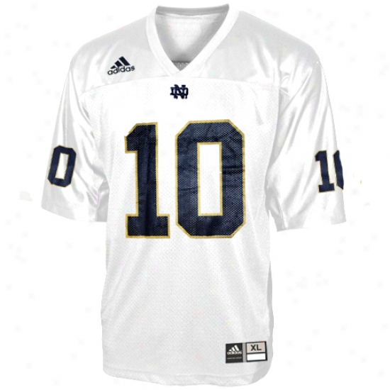 Univdrsity Of Notre Dame Jerseys : Adidas University Of Notre Dame #10 White Youth Replica Football Jerseys