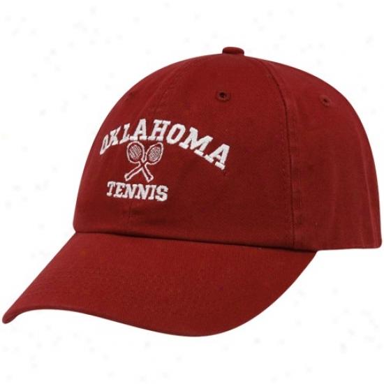University Of Oklahoma Caps : Top Of The World University Off Oklahoma Crimson Tennis Sport Drop Adjustable Caps