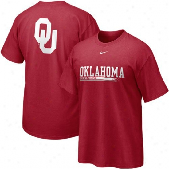 University Of Oklahoma Shirt : Nike University Of Oklahoma Youth Crimson 2010 Practice Shirt
