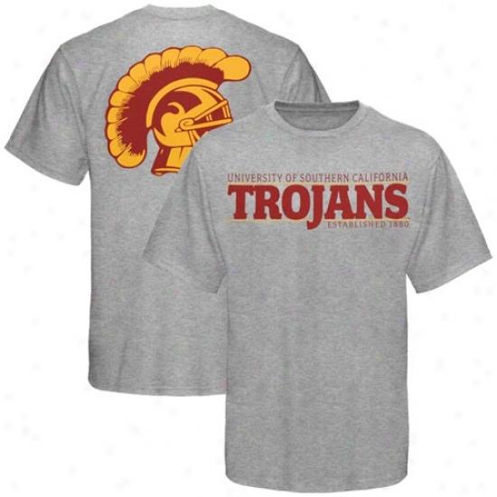 University Of Southern California T Shirt : Sports Specialties By Nike University Of Southern California Ash Established T Shirt