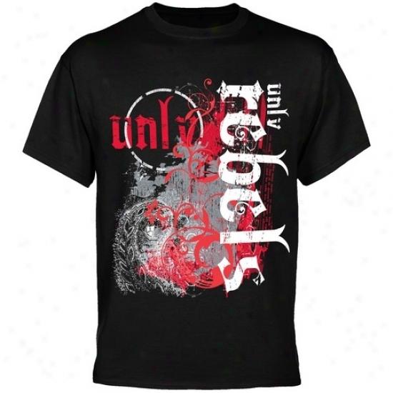 Unlv Runnin Rebels Apparel: Unlv Runnin' Rebels Mma Splat Black T-shirt