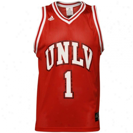 Unlv Runnin Rebels Jerseys : Adidas Unlv Runnin' Rebels #1 Red Replica Basketball Jerseys