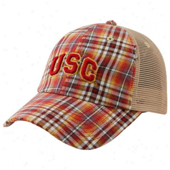 Usc Caps : Top Of The World Usc Plaid Academic Adjustable Caps