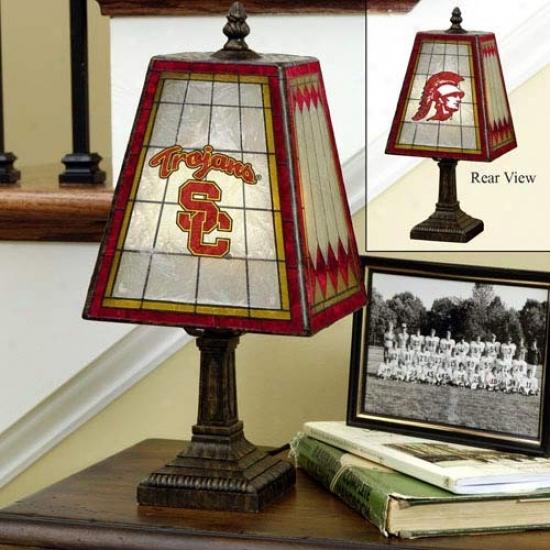 Usc Trojans Art-glass Lamp