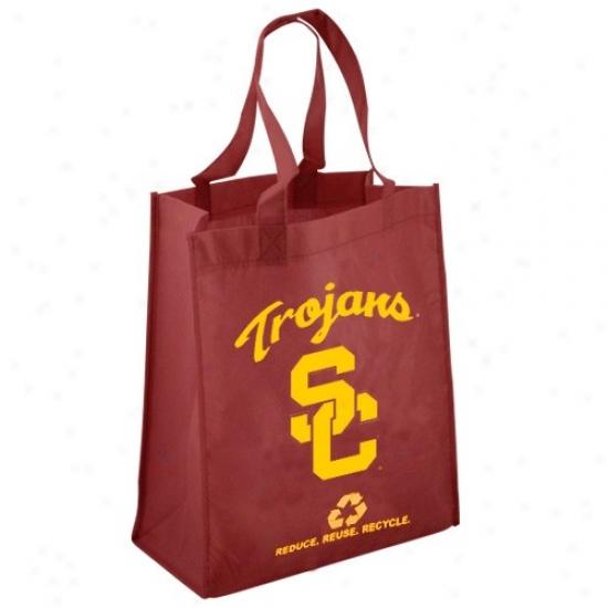 Usc Trojans Cardinal Reusable Tote Bag