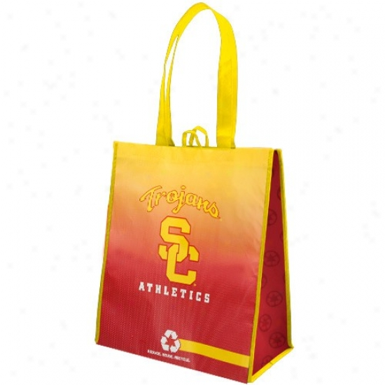 Usc Trojans Gold-cardinal Fade Reusable Carry Bag