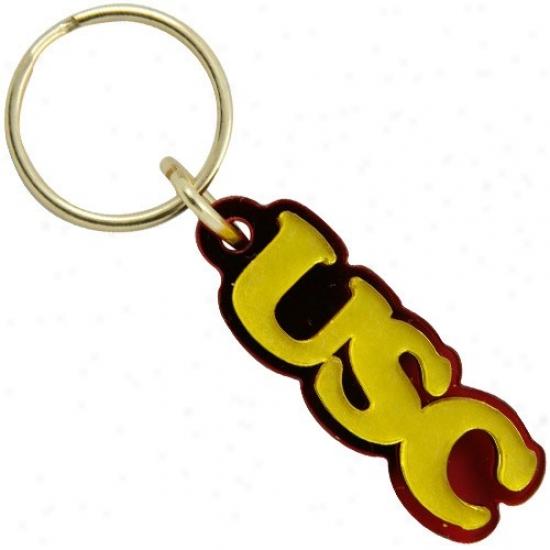 Usc Trojans Gold Mirror Mini Keychain
