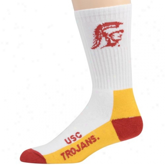 Usc Trojans Yohth Tri-color Team Logo Tall Socks