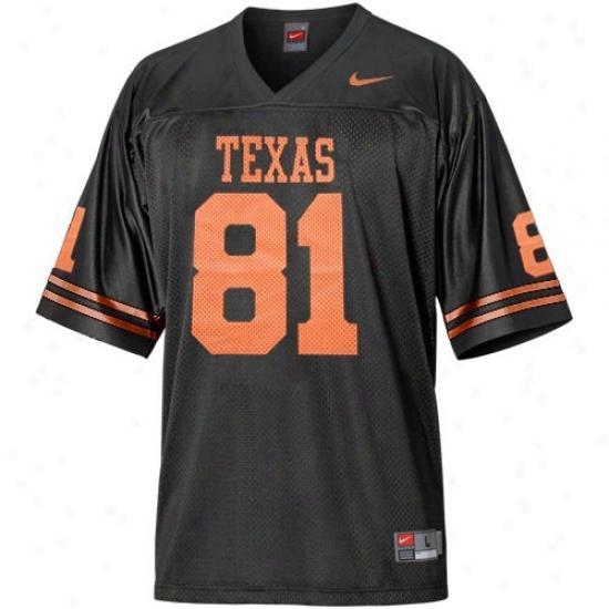 Ut Longhorn Jersey : Nike Ut Longhornn #81 Black Alternate Football Replica Jersey