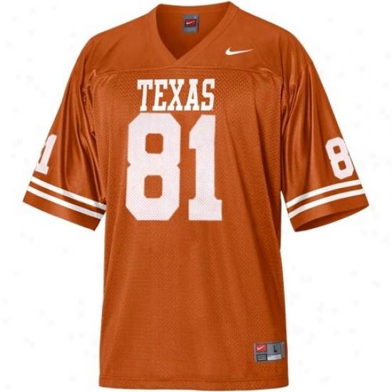 Ut Longhorn Jeesey : Nike Ut Longhorn #81 Replica Football Jersey - Focal Orange