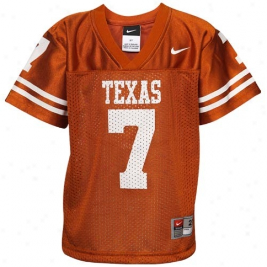 Ut Longhorn Jerseys : Nike Ut Longhorn Toddlwr #7 2010 Replica Football Jerseys - Focal Orange
