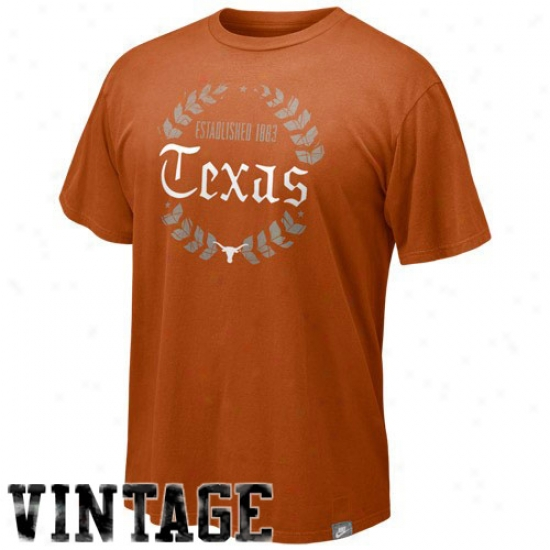 Ut Longhorn Shjrts : Nike Ut Longhorn Focal Orange Laureate Shirts
