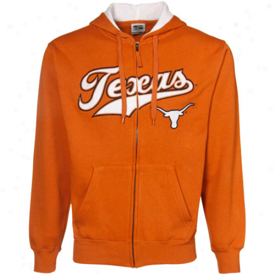 Ut Longhorns Fleece : Ut Longhorns Burnt Orange Classic Twill Full Zip Fleece