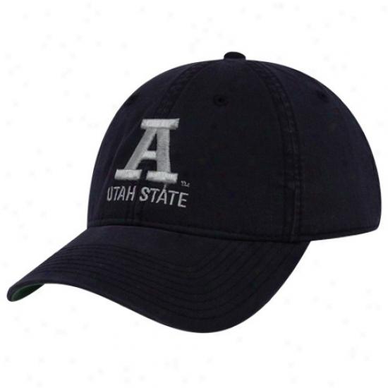 Utah State Aggies Gear: The Game Utah State Aggies Navy Blue 3d Logo Adjustable Hat