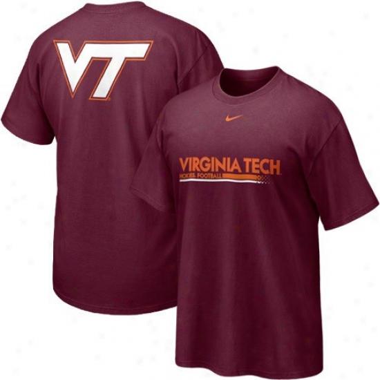 Va Tech Hokies  Tshirt : Nike Va Tech Hokies  Youth Marpon Practice Tshirt
