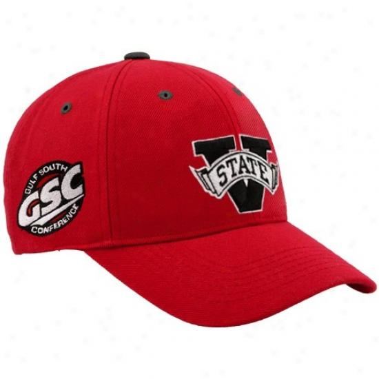 Valdosta State Blazers Gear: Top Of The World Valdosta State Blazers Red Triple Conference Adjustable Hat