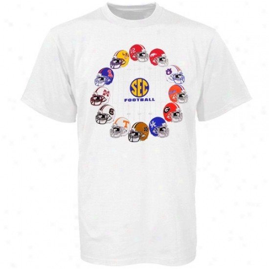 Vanderbilt Commodores Attire: Sec Youth White Football Helmet T-shirt