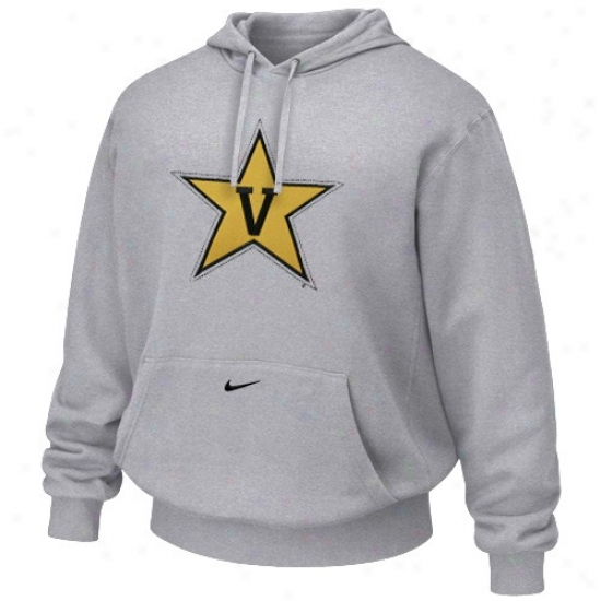 Vanderbilt Commodores Sweat Shirts : Nike Vanderbilt Commodres Ash Tackle Twill Logo Sweat Shirts