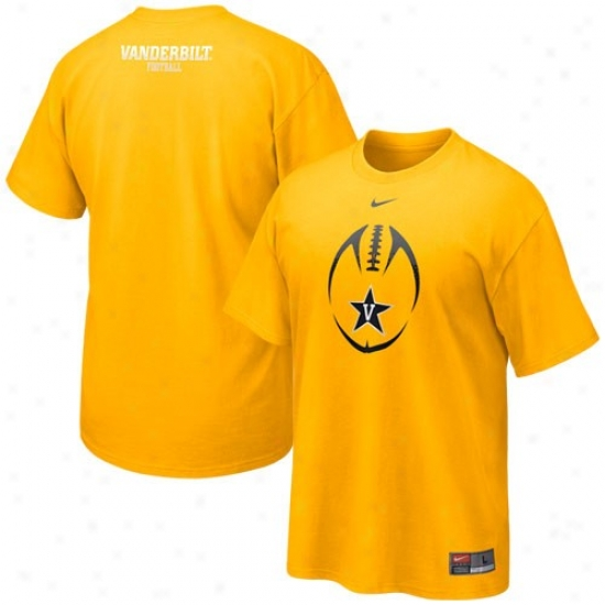 Vanderbilt Commodores T-shirt : Nike Vanderbilt Commodores Gold 2010 Team Issue T-shirt