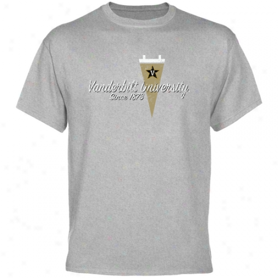 Vanderbilt Commodores Tshirts : Vanderbilt Commodores Ash Pennant Tradition Tshirts