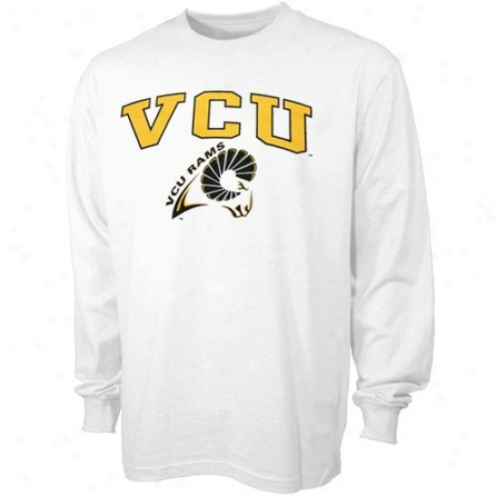 Vcu Rams Dress: Vcu Rams White Bare Essentials Long Sleeve T-shirt