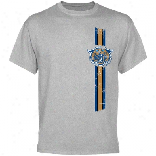 Villanova Wildcats Apparel: Villanova Wildcats Ash Do battle Stripe T-shirt