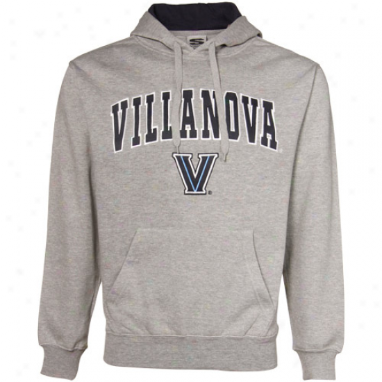 Villanova Wildcats Sweat Shirts : Villanova Wildcats Ash Classic Twill Sweat Shirts