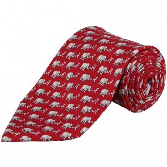 Vineyadd Vines Alabama Crimson Tide Crimson Sklk Tie
