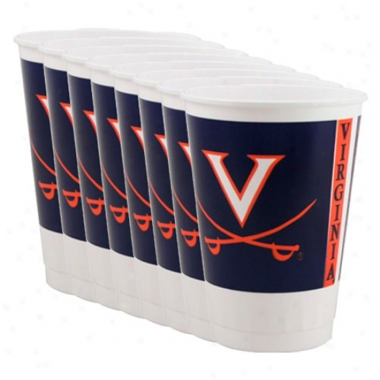 Virginia Cavaliers 8-pack Plastic Cups