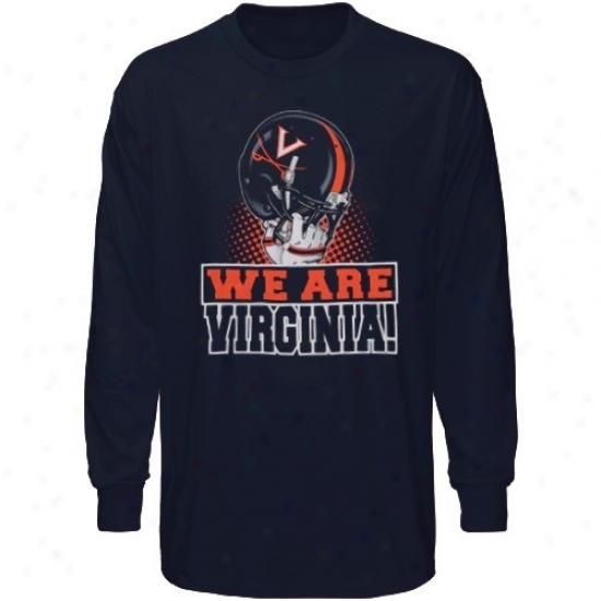 Virginia Cavaliers Attire: Virginia Cvaaliers Youth Navy Blue We Are Long Sleeve T-shirt