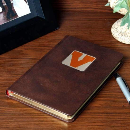 Virginia Cavaliers Brown Vintage Journal
