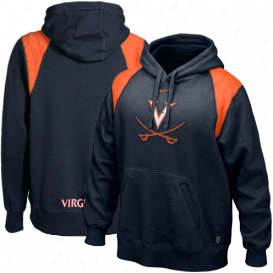 Virginia Cavaliers Fleeve : Nike Virginia Cavaliers Ships Blue Hands To Face Fleece